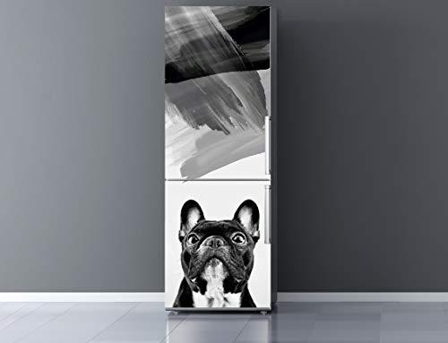 Oedim Vinilo para Frigorífico Perro Blanco y Negro 185x60cm | Adhesivo Resistente y Económico | Pegatina Adhesiva Decorativa de Diseño Elegante
