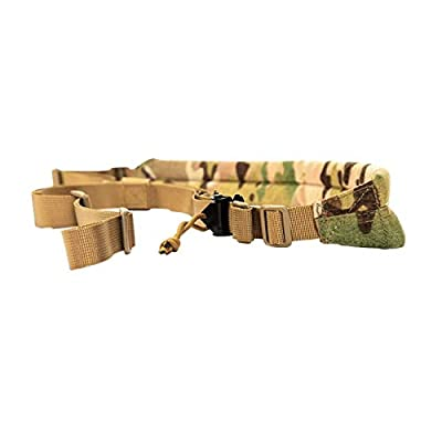 DMAIP Tactical MK2 Padded Gun Sling Hunting Strap Adjustable Bungee Rifle Sling Strap Equipment (CP)