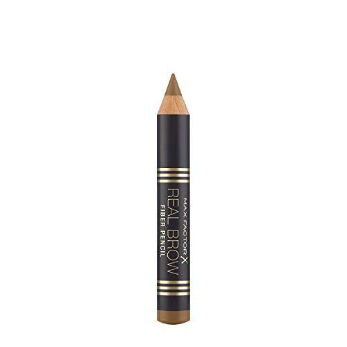Max Factor Real Brow Fiber Pencil Blonde 0 – Lápiz de cejas con efecto 3D – Para cejas definidas de forma natural – Color marrón – 1 x 1 g