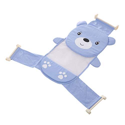 STOBOK Suporte Anti- Slip Net Banheira Banheira de Bebê Urso Banhista Banhista Sling Malha Chuveiro Banho Urso Berço Rede de Apoio Azul