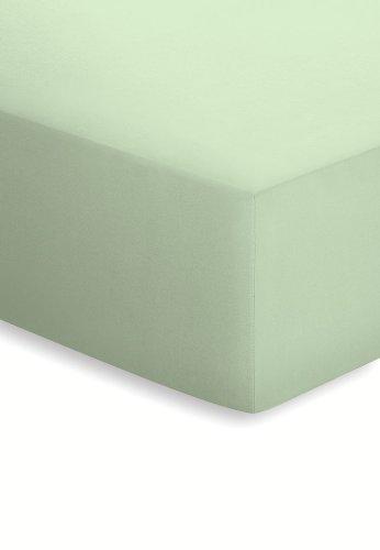 Schlafgut 045-323 Elastic Edeljersey hoeslaken/van 140 x 200 tot 160 x 220 cm, limoen