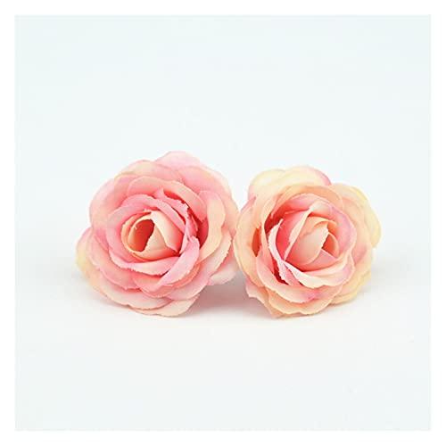 YUANLIN künstliche Blumen 10 stücke 2,5 cm Mini Rose Tuch künstliche Blume für Hochzeit fire Home Room Dekoration Ehe hüte hüte zubehör seidenblume künstliche Blumen deko (Color : Champagne)