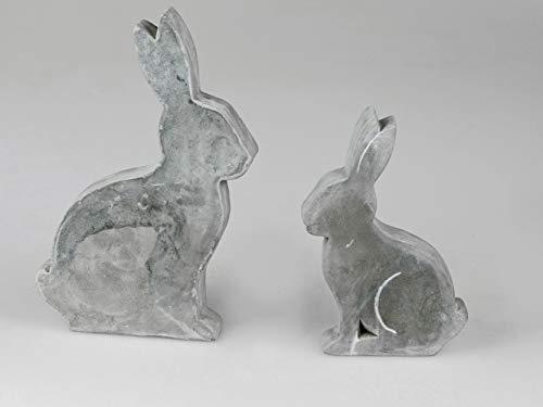 Silamo Hase sitzend, Zement-grau, 27 cm