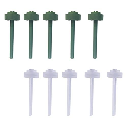 DOITOOL 10 Unidades de Espigas de Riego Automático para Plantas Regaderas de Riego Dispositivo de Agua de Jardín Bombillas de Riego para Plantas de Jardín Caseras