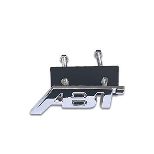 XBXDM Adesivi per Griglia Anteriore in Metallo per Audi ABT A6 C6 C5 A3 8P A4 A1 A5 A7 A8 B6 B5 R8 Rs8 Q2 Q5 Q7 TT Adesivi per Griglia Audi ABT, Argento