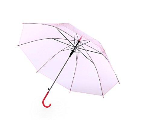 Paraguas Colorido Claro Unisexo Rosado (Paquete de 3)
