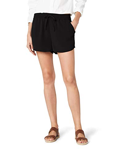 ONLY Damen Onlturner WVN Noos Shorts, Schwarz (Black Black), W(Herstellergröße: 40)