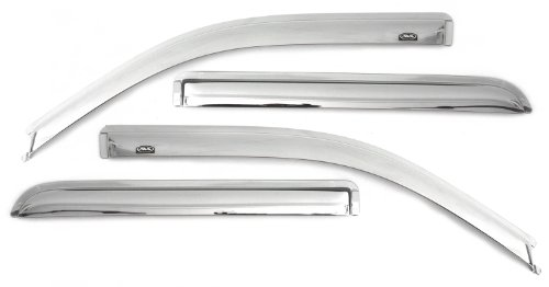 Auto Ventshade 684443 Chrome Ventvisor Side Window Deflector, 4-Piece Set for 2004-2008 Ford F-150 SuperCrew, 2006-2008 Mark LT