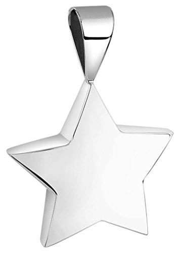 Nenalina Stern Anhänger für Damen Kette oder Halskette glänzend in 925 Sterling Silber, 361309-090