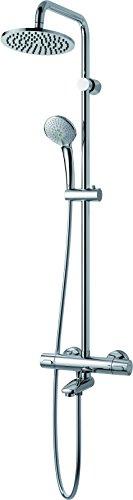 Ideal Standard Duschsystem IDEALRAIN A5778AA mit Aufputz- Wannen Thermostat 100,G1/2 verdeckte, verchromt