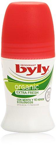 Byly - Desodorante Organic Extra Fresh - con menta y té verde ecológicos - 50 ml (BIO)