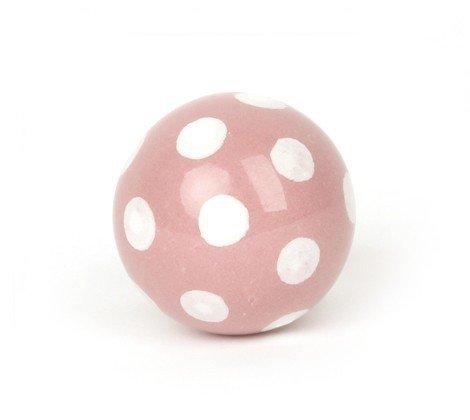 la fraise rouge Möbelknopf Ball rosa/Weiss