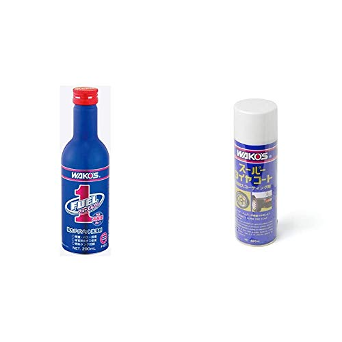 Wakos F-1 Fuel One Gas (2 and 4 cycles) and Diesel Wash Fuel Additive, 6.8 fl oz (200 ml), F101 & STC-A Super Tire Coat, A410 16.9 fl oz (480 ml), A410 [Set Purchase]