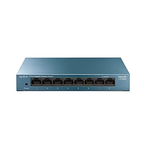 TP-Link LS108G - Switch Ethernet Gigabit a 8 porte 10/100/1000 Mbps, ideale per la condivisione di connessione e la rete per piccole aziende e uffici domestici