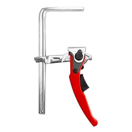 QWORK Abrazaderas de carril, abrazadera de barra de liberación rápida con capacidad de 160 cm y profundidad de garganta de 60 cm para lijar, cortar