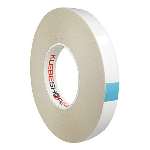 HyperTape doppelseitiges Klebeband | 50 m, Breite wählbar | Extra stark klebend | Universal-Klebeband | Handreißbar / 9 mm x 50 m