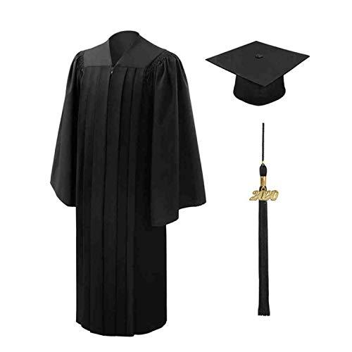 Shujin Akademischer Talar Doktorhut und Quaste Schule abschließen Uni Diplom Abschluss und Abschlussfeier-Schwarz-EU 51