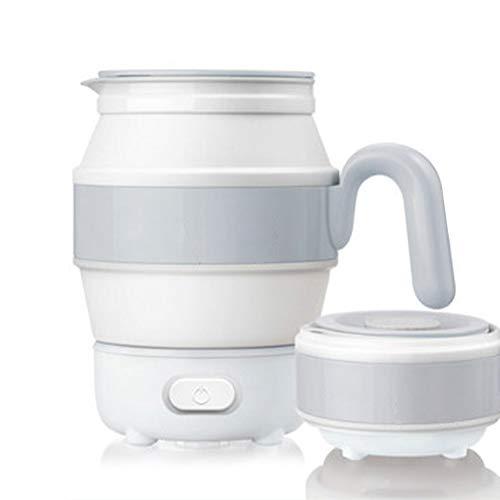 Wasserkocher Quiet Boil Kessel Tragbare Falten Kleine Reise den Haushalt Isolierung Food Grade-Silikon-Wärmflasche, Fast Boil, Trockengehschutz, BPA frei,Grau