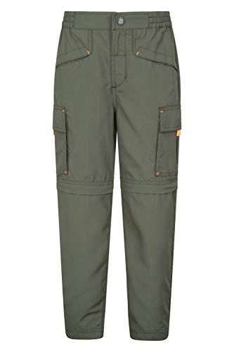 Mountain Warehouse Sahara pantalón Ligero Ripstop Infantil - Prácticos, protección UV, Pantalones para niños y niñas, Multibolsillos - para Deportes, Camping, Senderismo Caqui 13 Años