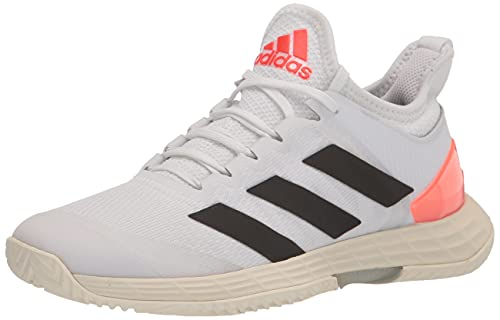 adidas Women's Adizero Ubersonic 4 Tennis Shoe, White/Black/Solar Red, 8