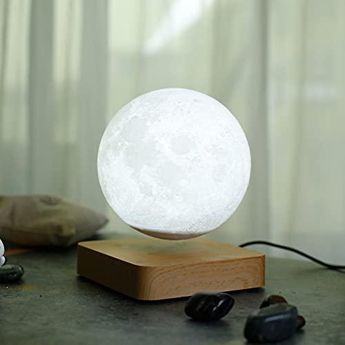 ZJING Tecnología 3D Lámpara de Luna de Equilibrio, Júpiter Suspendido, Tiene 3 Modos de Colores (Júpiter/Mares/Luna) para Regalos Sorpresa/Decoración de Habitaciones/Luz de Noche,Natural