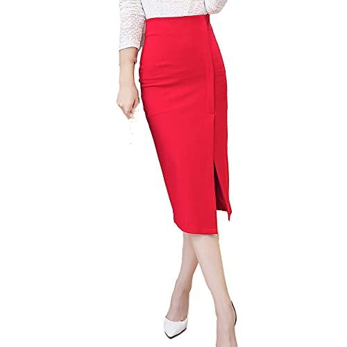 Falda midi de las mujeres de la moda de la oficina de las faldas del lápiz de las mujeres