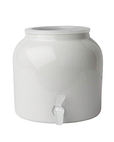 Dispensador de agua de porcelana New Wave Enviro, blanco (individual), 8.3 litros, sin tapa