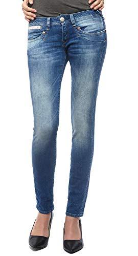 Herrlicher Damen Piper Slim Jeans, Blau (Bliss 634), 25W / 30L