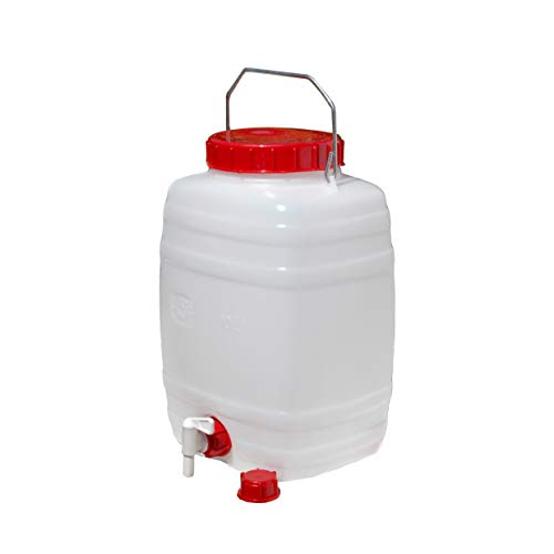 Floraworld Getränkefass 10 Liter getränkefas-s Standard 10 L, 10 liters, Rot/weiß, 27 x 27 x 37 cm