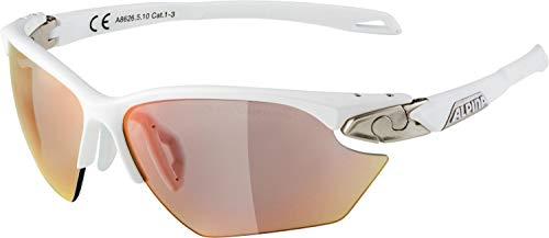 ALPINA TWIST FIVE HR S QVM+ Sportbrille, Unisex– Erwachsene, white matt-silver, one size