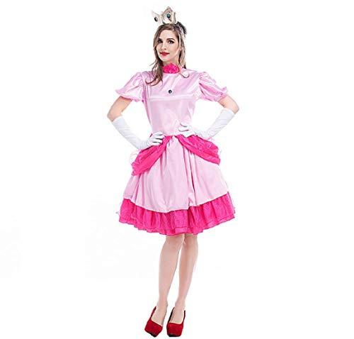 GGT Boutique - Disfraz de Princesa Mario Peach para Adulto