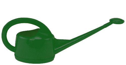 Dramm 12444 2-Liter Injection Molded Plastic Watering Can, Hunter Green