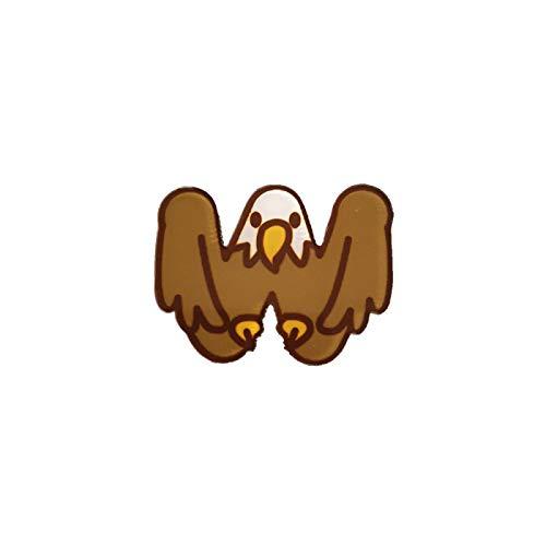 wangk Vintage Animal Pines para Las Mujeres niños Dibujos Animados acrílico Broche Lindo águila joyería Insignias Sombrero Bolsa Accesorios Bufanda Hebilla Carta
