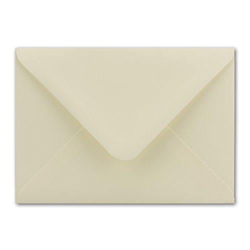 50x Briefumschläge DIN C6-11,4 x 16,2 cm - mit Nassklebung - Farbe: Creme - Grammatur: 100 g/m² - Marke: NEUSER PAPIER