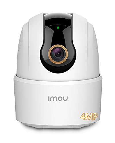Imou 2K+ Cámara de Vigilancia WiFi Interior, Cámara IP WiFi Interior Cámara 360° 4MP con Detección Humana Modo de Privacidad Sirena de Sonido Audio Bidirectionnel para Bebé Gato Perro (Ranger 2C 4MP)