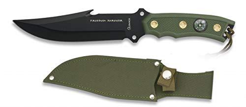 Cuchillo Freedom Hoja 16,3 para Caza, Pesca, Camping, Outdoor, Supervivencia y Bushcraft Albainox 31365 + Portabotellas de regalo