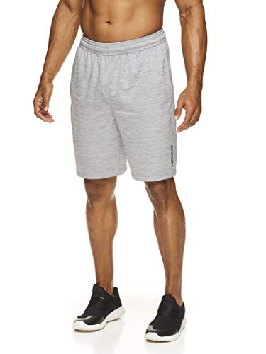 HEAD Men's Workout Gym & Running Shorts w/Elastic Waistband & Drawstring - Agent Sleet Heather, Small