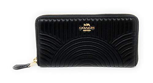 Coach Women's Accordion Wallet - Black - One Siz