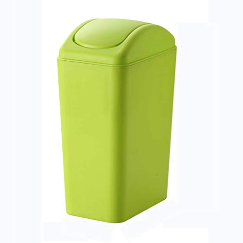 Trash Can Creative Bathroom Trash Can Household European-style Kitchen Living Room Large Small Basket With Lid (Color : Green, Size : 8L)
