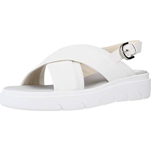 Geox D92DLA 000BC Sandalo Donna Bianco 38