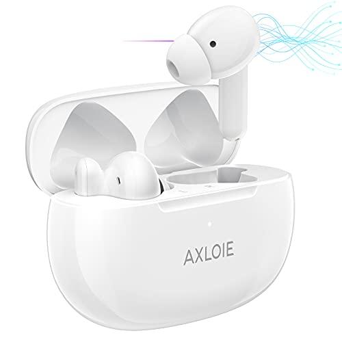 AXLOIE Cuffie Bluetooth, ANC Auricolari Wireless con Cancellazione Attiva Rumore, Auricolari In-Ear Ottimo Suono con Chiamate Chiare 4 Microfoni, Custodia di Ricarica Portatile per Casa Ufficio