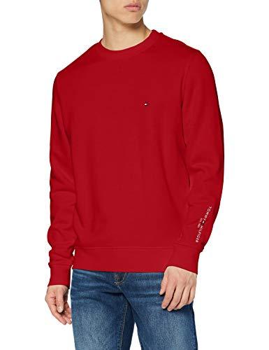 Tommy Hilfiger Herren Tommy Sleeve Logo Sweatshirt Pullover, Arizona Red, XL