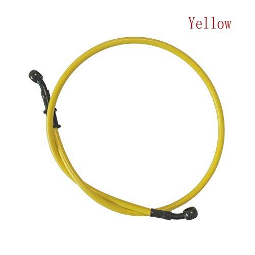 Bremsflüssigkeitsschlauch Motorrad-Schmutz-Fahrrad-Stahlflexhydraulikkupplungs-Ölschlauch Verstärkung Brems line Rohr-Rohr 500 Universal-Fit MX 1500mm Motorradkupplung (Color : Yellow, Size : 80cm)
