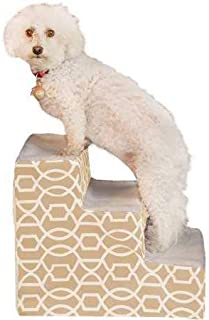 Pet Gear Easy Step III Pet Stairs, 3-Step for Cats/Dogs, Non- Slip Treads