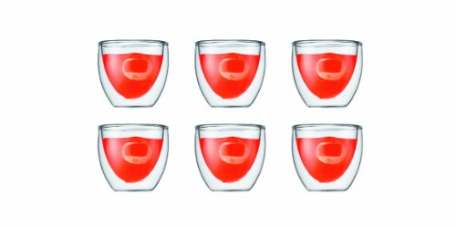 Bodum Pavina 2-1/2-Ounce Double Wall Espresso/Shot Glass, Set of 6 by Bodum