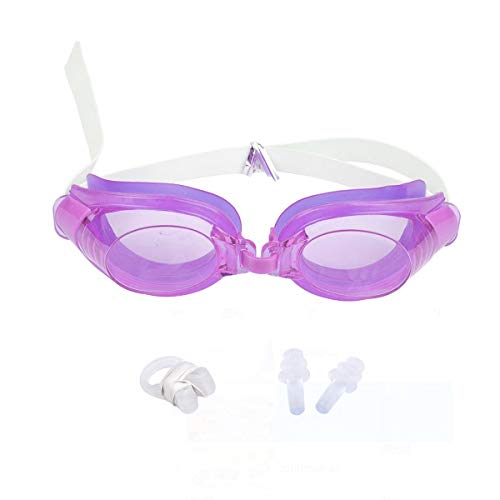 Topsale-ycld 3 Stks Verstelbare Zwembril Anti-Mist Waterdicht Zwembad Zwembril Volwassen Zwembril met Neus Clip + Oorsteker