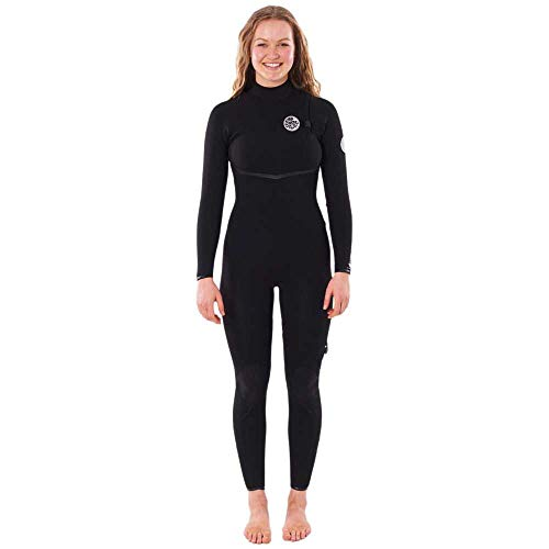 RIP CURL Womens E-Bomb 3/2mm Zip Free Wetsuit WSMYKG - Black Womens Size - US 12