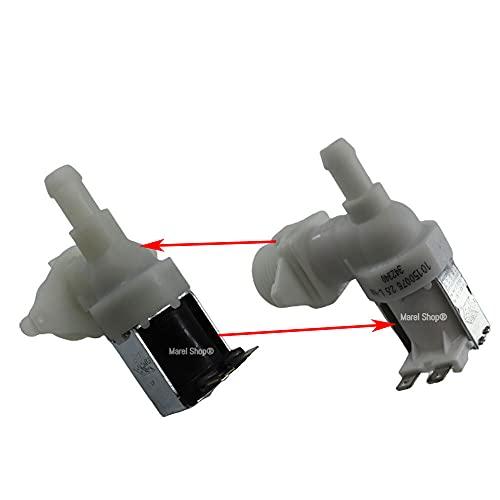 Marel Shop - Elettrovalvola carico acqua 1 via 90 gradi per lavastoviglie compatibile con Beko per modelli: DFC04210W - BSLDW102S - BSLDW101 - BLV528A