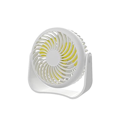 GLALAXY Ventilador de Escritorio USB Pequeño Ventilador de Mesa de Escritorio Personal con Viento Fuerte Operación Tranquila 3 Velocidad Portátil Mini Fan para Dormitorio de Oficina (Color : White)