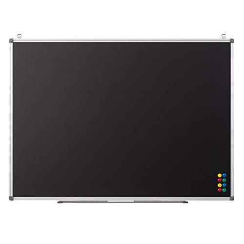 Magnetische Kreidetafel zum Aufhängen - Wandtafel mit Ablage und Kreide-Marker - Blackboard Magnettafel Tafel für Kinder, Büro, Küche, 110x80 cm schwarz